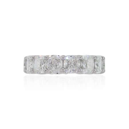 Platinum 13.16ctw GIA Certified Cushion Cut Diamond Eternity Band