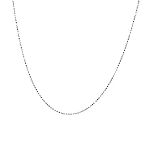 Aaron Basha 18k White Gold Ball Chain Necklace