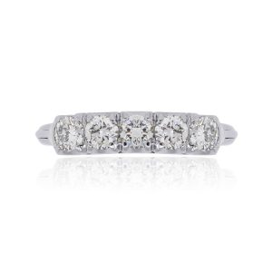 14k White Gold 0.50ctw Diamond Wedding Band