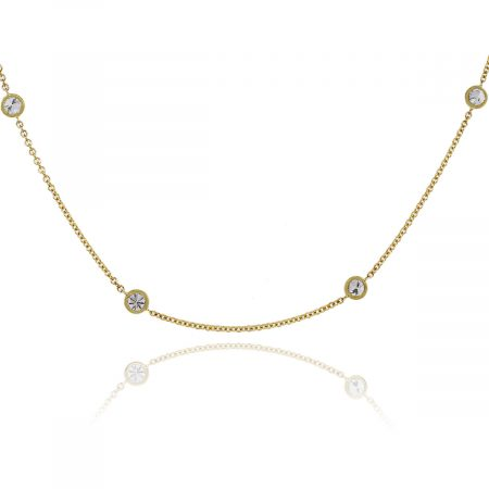 """18k Yellow Gold 2.02ctw Diamond by the Yard 18"""" Necklace"""
