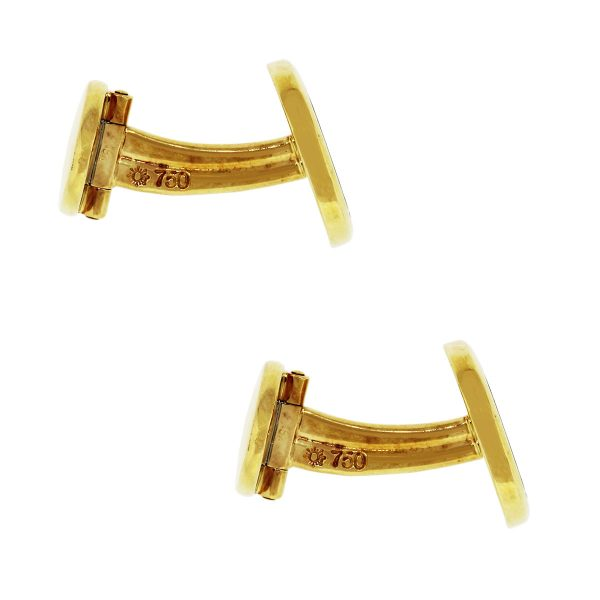 Patek Philippe 18k Yellow Gold Ellipse Cuff Links