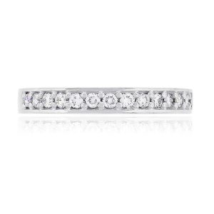 14k White Gold 0.28ctw Round Diamond Wedding Band