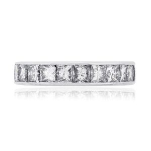 Platinum 5.90ctw Princess Diamond Eternity Band