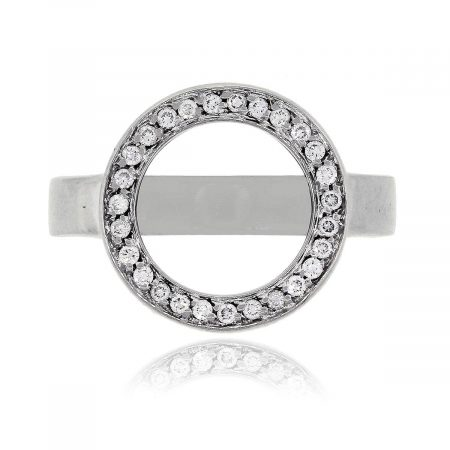 Movado 18k White Gold 0.35ctw Ono Diamond Ring