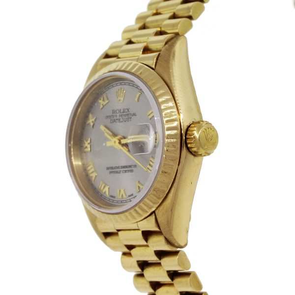 Rolex 69178 Datejust 18k Yellow Gold Presidential Ladies Watch
