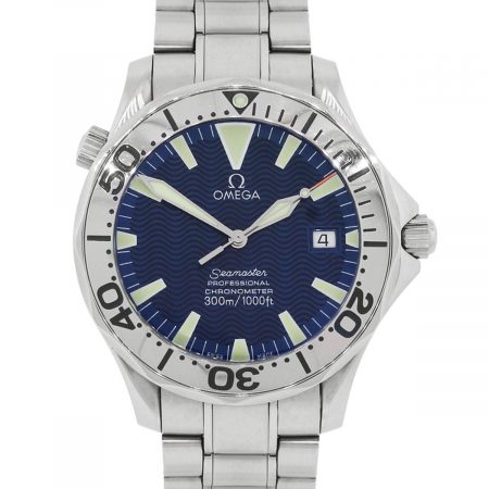 Omega 2255.80.00 Seamaster Blue Wave Dial Stainless Steel Watch