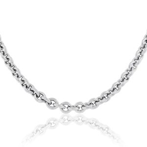 Movado Sterling Silver Cable Chain Necklace