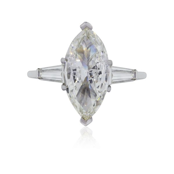 Platinum 2.45ct Marquise Shape Diamond Engagement Ring