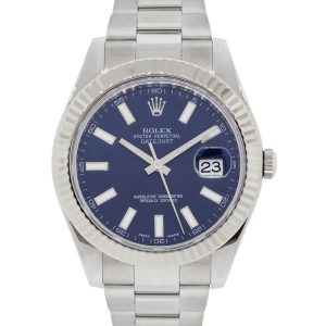 Rolex 116334 Datejust II Blue Stick Dial Stainless Steel Watch