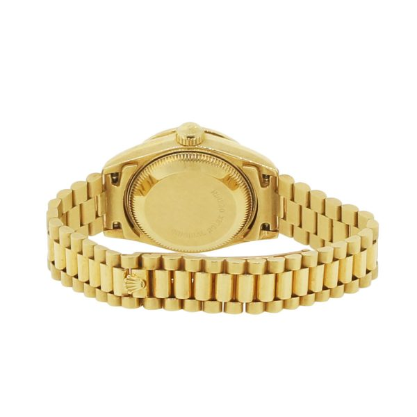 Rolex 69038 Datejust Crown Collection 18k Yellow Gold Ladies Watch