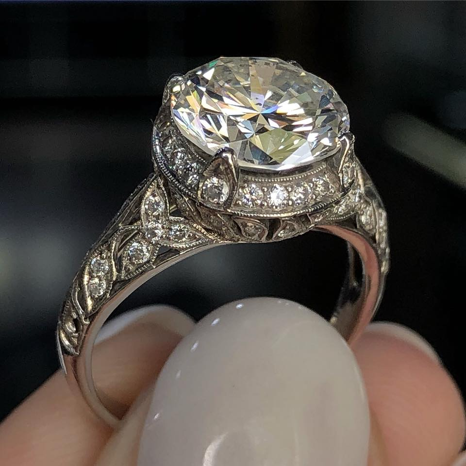 vintage style engagement rings boca raton