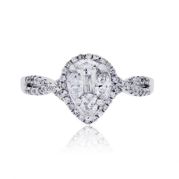 pear engagement ring boca