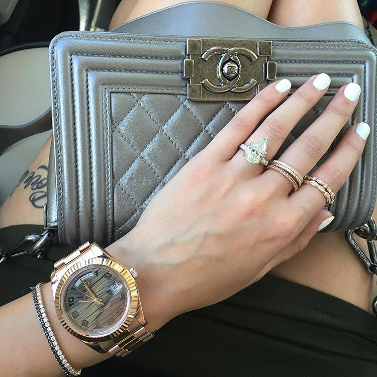 chanel bag with rolex boca raton