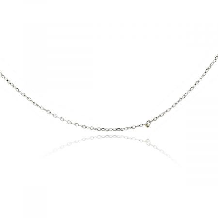"14K White Gold 15"" Fine Chain Necklace"