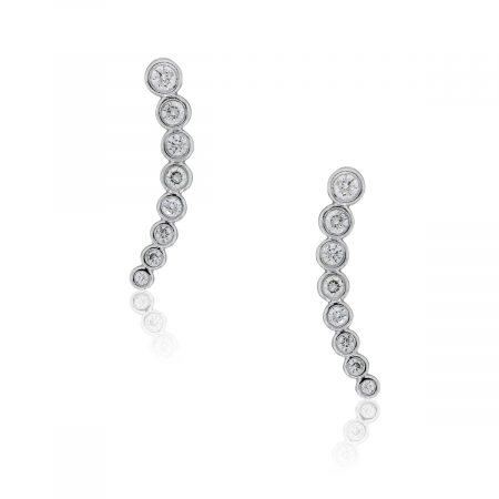 KC Designs 14k White Gold 0.45ctw Diamond Bubble Ear Climber Earrings