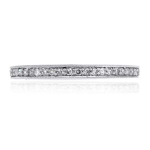 14k White Gold 0.25ctw Round Diamond Eternity Band