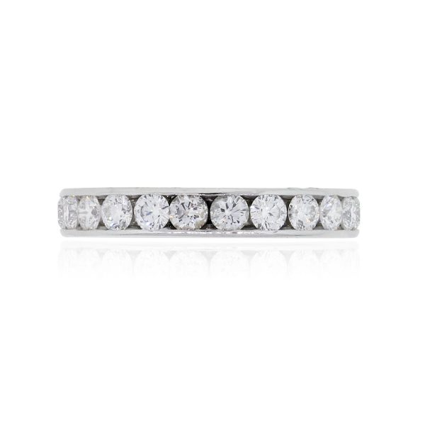 Tiffany & Co. Platinum 2.30ctw Channel Set Diamond Eternity Band Ring