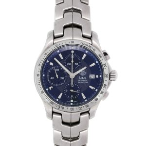 Tag Heuer CJF2114-0 Link Chronograph Blue Dial Stainless Steel Watch