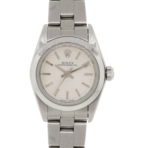 Rolex 76080 Datejust Ladies Silver Stick Dial Ladies Watch