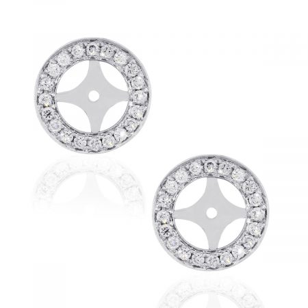18k White Gold 0.32ctw Diamond Earring Jackets