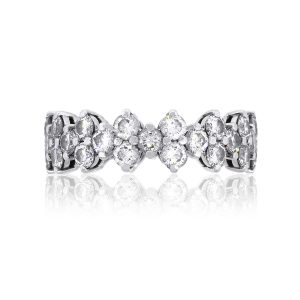 Tiffany & Co. Platinum 2.49ctw Diamond Eternity Band Ring