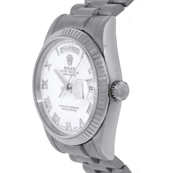 Rolex 118239 Day Date Stainless Steel White Dial Gents Watch