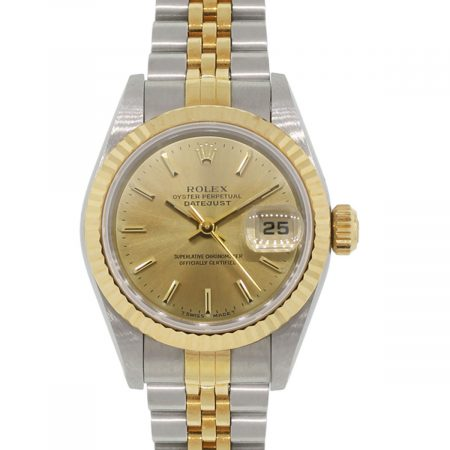 Rolex 69173 Datejust Two Tone Champagne Dial Ladies Watch