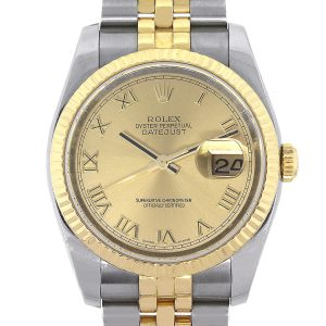Rolex 116233 Datejust Two Tone Champagne Dial Watch