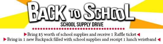school supply drive diamonds and donuts