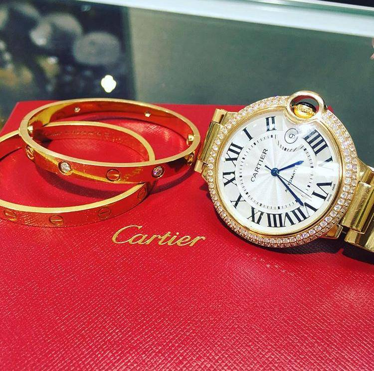 cariter watches and love bracelets