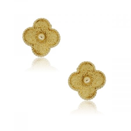 Van Cleef & Arpels 18k Yellow Gold Magic Alhambra Earrings