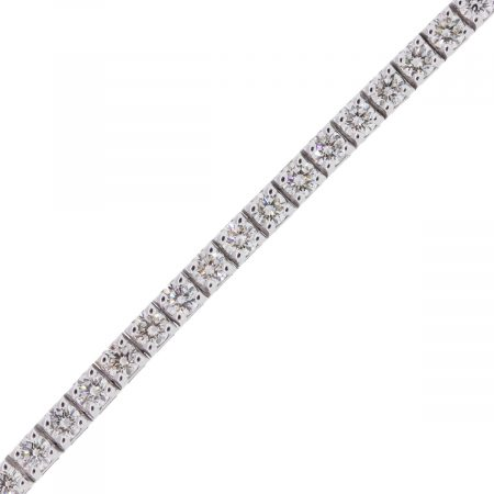 18k White Gold 4.75ctw Round Brilliant Diamond Tennis Bracelet