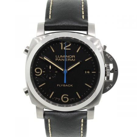 Panerai Luminor Flyback 1950 PAM524 Stainless Steel on Leather Watch