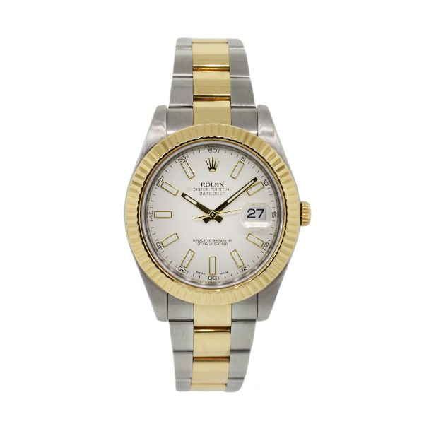 Rolex 116333 Datejust Two Tone White Dial Mens Watch