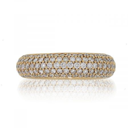 18k Rose Gold 2.42ctw Diamond Pave Eternity Wide Band