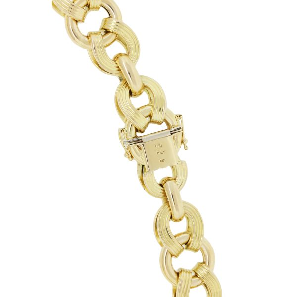 yellow gold XL link necklace