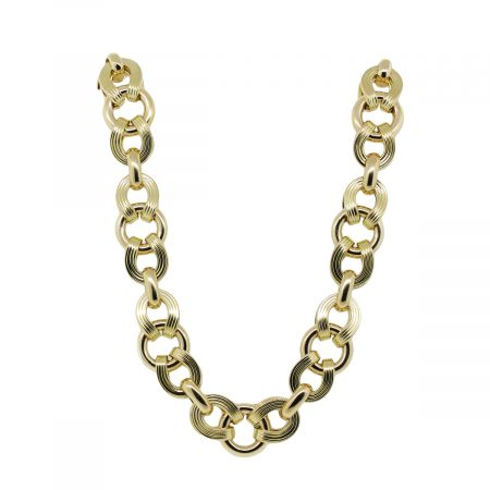 "14k Yellow Gold 22"" Extra Large Oval Link Chain Necklace"