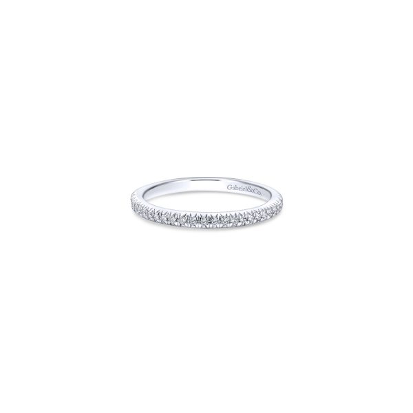 Gabriel & Co. 14k White Gold 0.17ctw Diamond Ladies Wedding Band