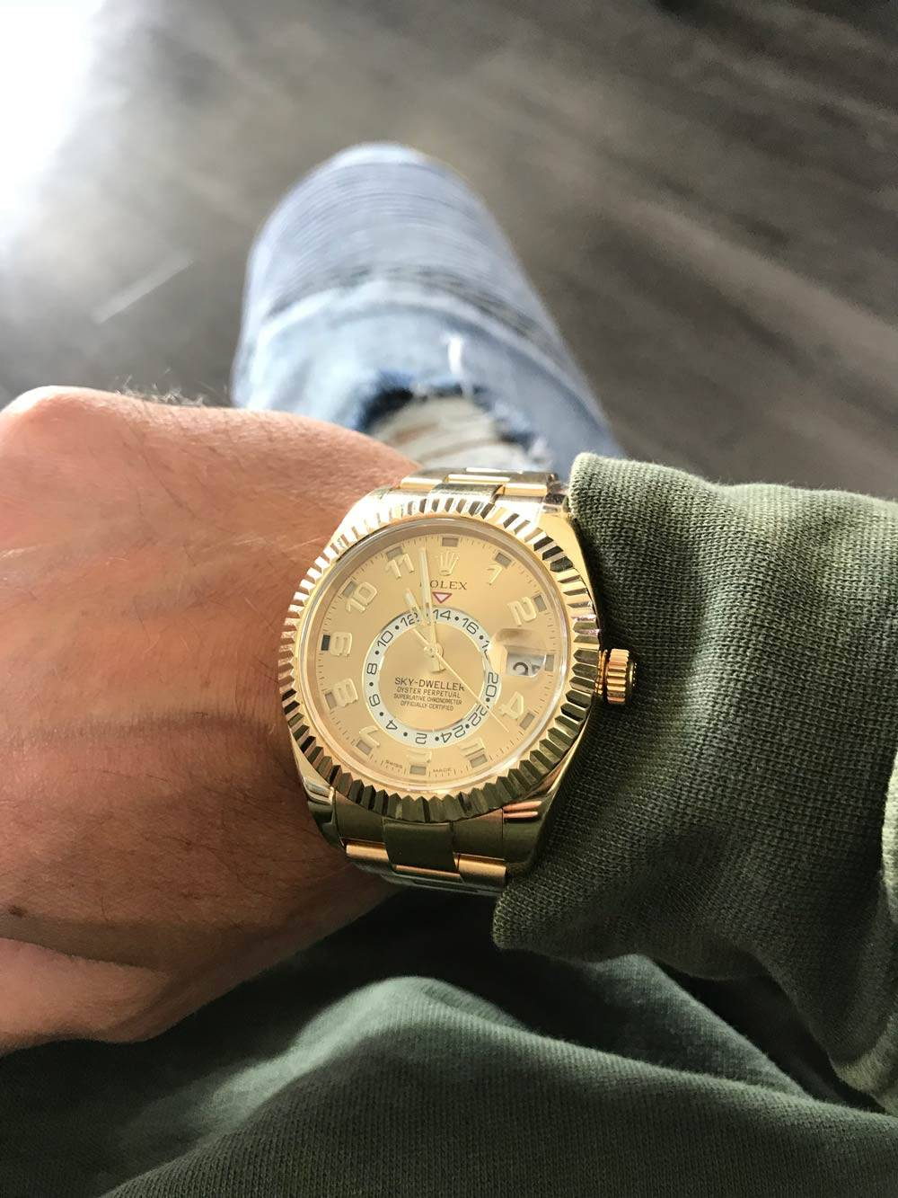 Rolex Sky Dweller Review 18k Yellow Gold With Champagne Dial