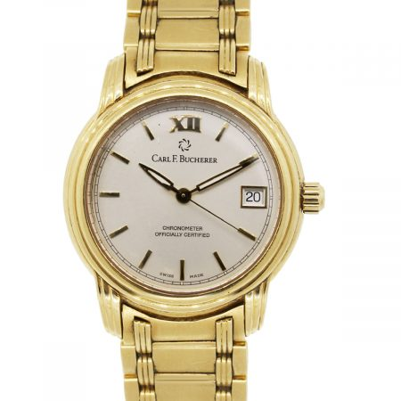 Carl F. Bucherer 2892-006 Archimedes 18k Yellow Gold Champagne Dial Gents Watch