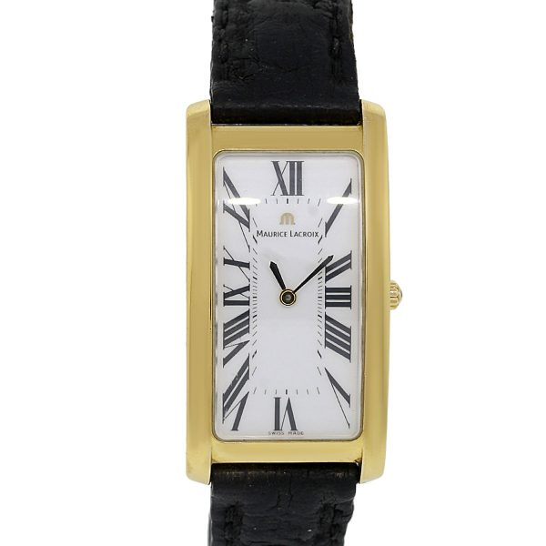 Maurice Lacroix 47813 Fiaba Gold Plated on Leather Ladies Watch