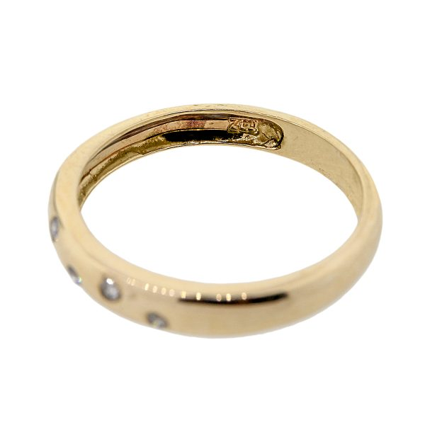 10k Yellow Gold 0.10ctw Diamond Sprinkle Stackable Band