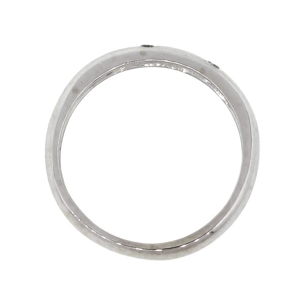 10k White Gold 0.10ctw Diamond Sprinkle Stackable Band