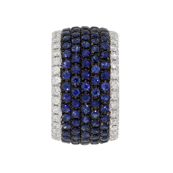 wide sapphire band
