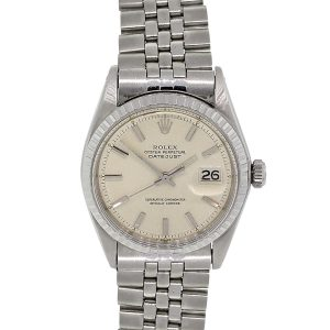 Rolex 1603 Datejust Silver Stick Pie Pan Dial Stainless Steel Watch
