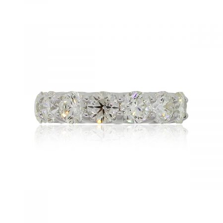 18k White Gold 6.85ctw Round Brilliant Diamond Eternity Band