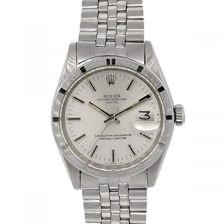 Rolex 1501 Oyster Perpetual Date Silver Dial Stainless Steel Watch