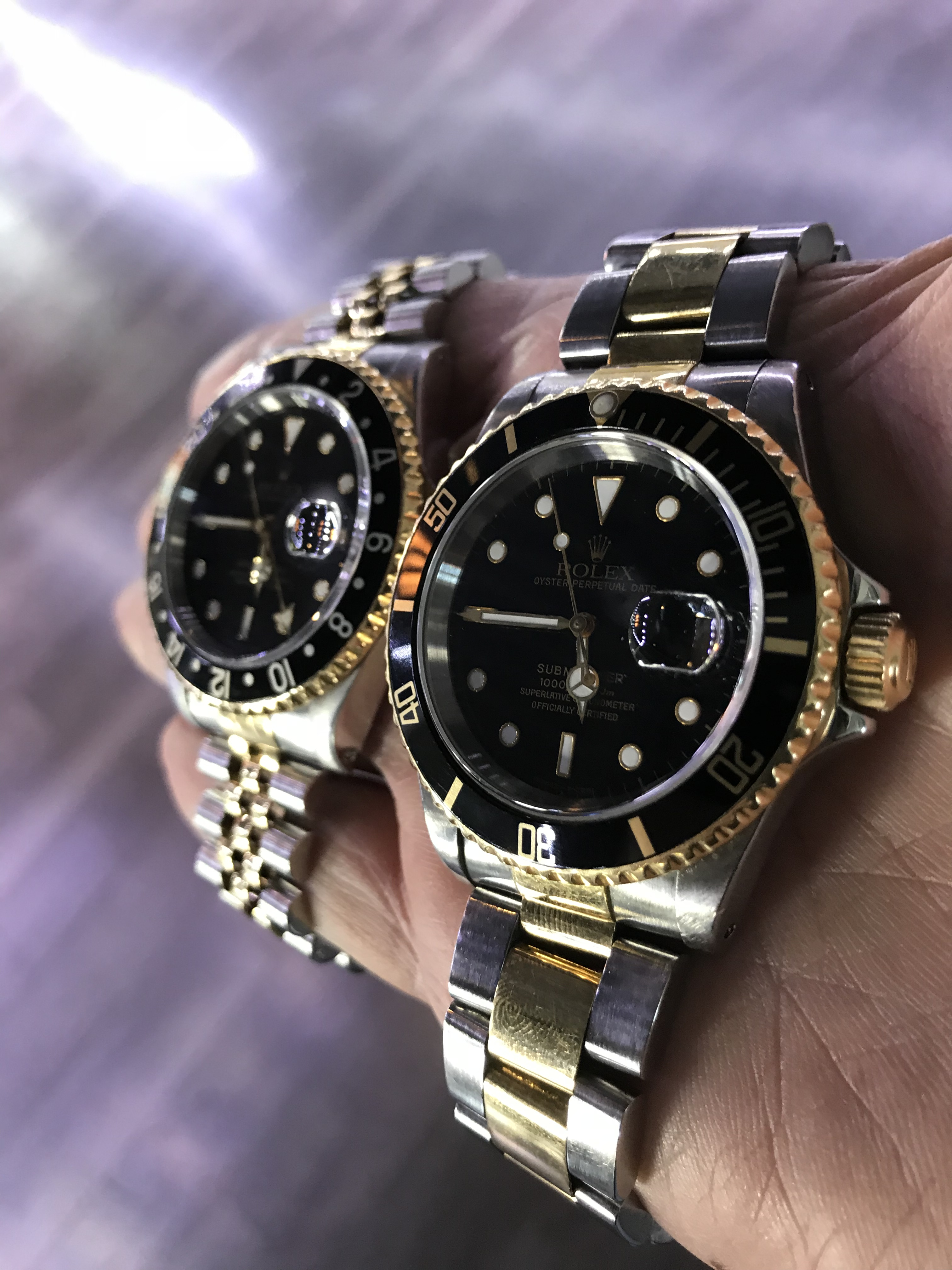 Rolex Two Tone Submariner and Rolex GMT