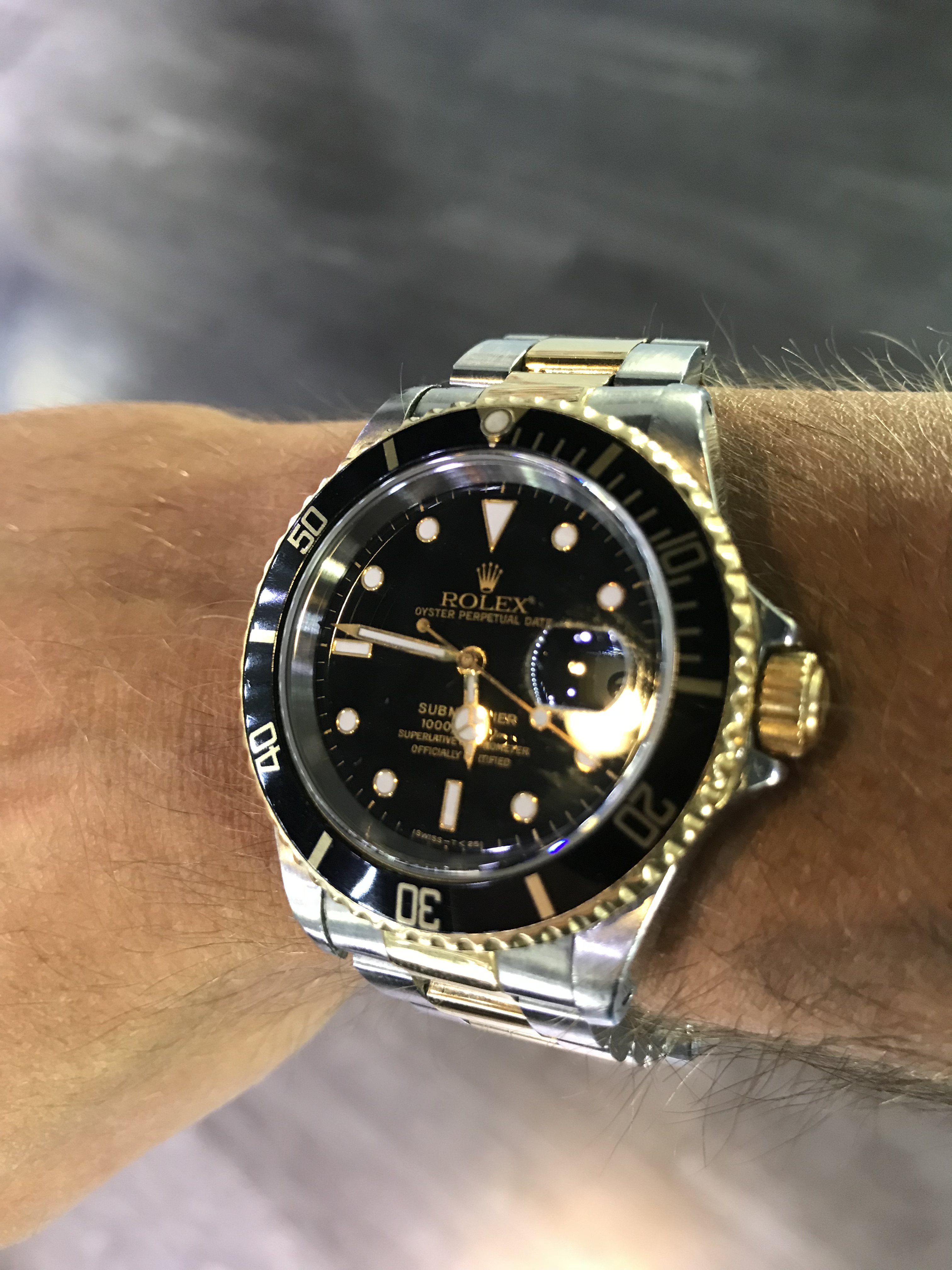 Rolex Two Tone Submariner oyster steel bracelet
