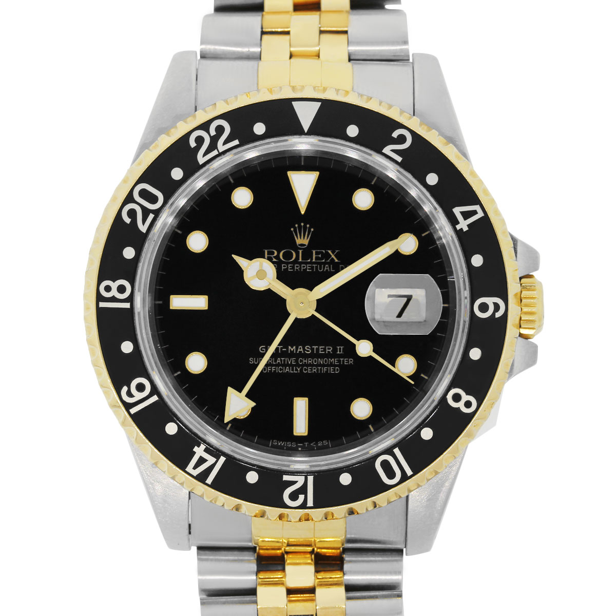 Rolex 16713 Two Tone Gmt Master Ii Black Dial Watch
